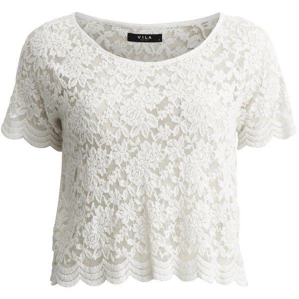 Vila Visanders - Lace - Short Sleeved Top found on Polyvore