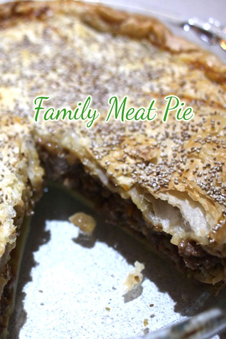 Who doesn't love a good old family meat pie??  It's a real Aussie Favourite, espeically around footy season!