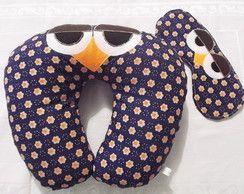 Almofada de coruja com máscara