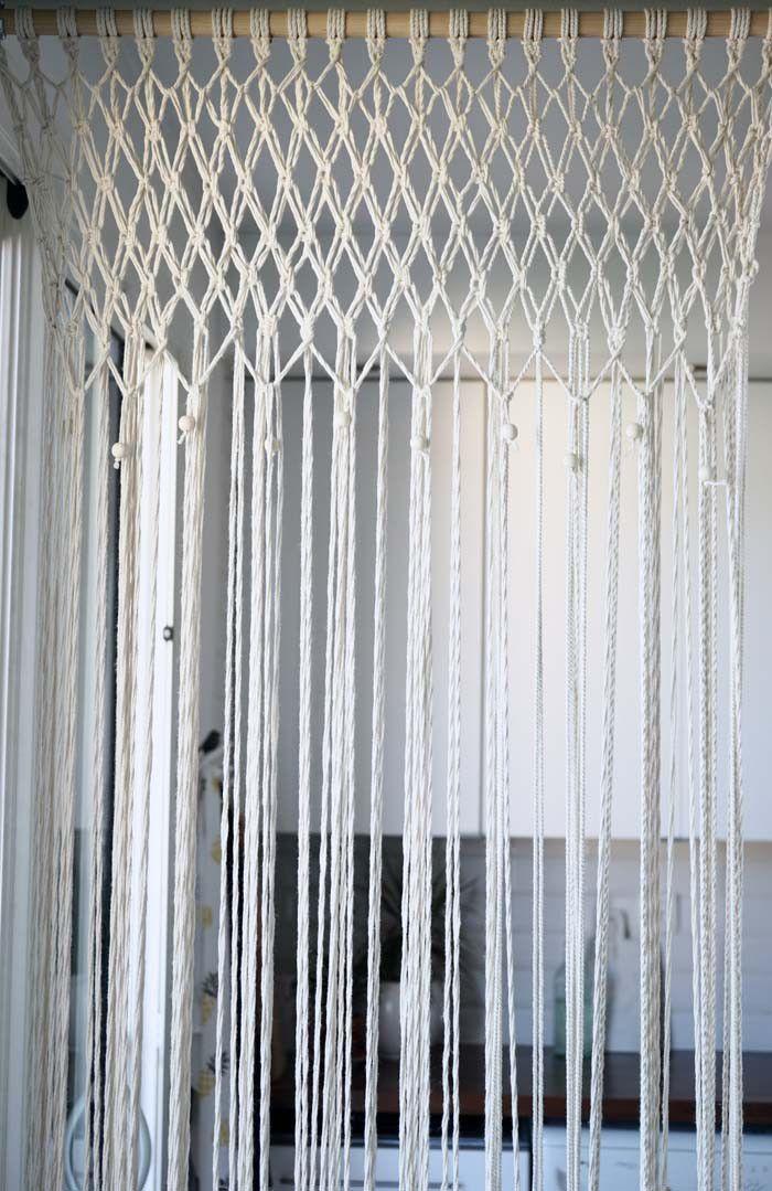 DIY : J'ai réalisé un rideau en macramé chez moi (tuto inside)