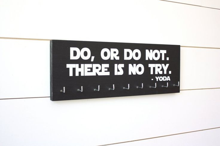Star Wars Medal Holder - Do, Or Do Not. There is No Try. Yoda
