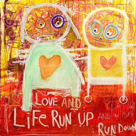Love and Run - Canvas