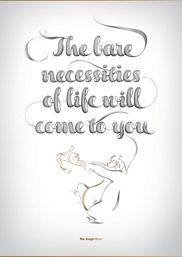 Disney Typography poster- Jungle Book - $20