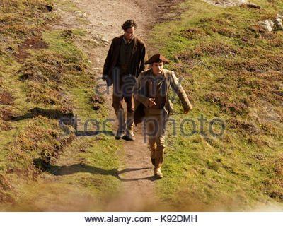 Poldark location filming for series 4 2018 Porthgwarra cove, 18th September, 2017, Cornwall, UK. - Stock Photo