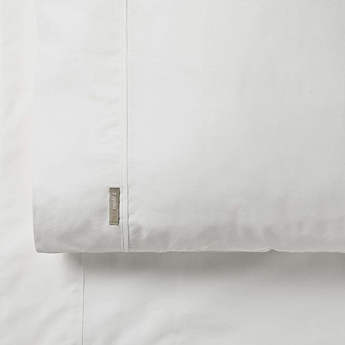 600TC White Bamboo Cotton Sheet Separates - Super Queen Fitted Sheet