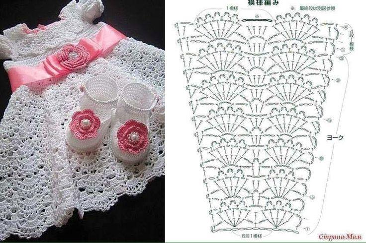 vestidos-bebe-niña-crochet-6.jpg (850×567)