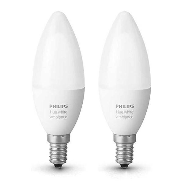 Set becuri LED Philips Hue 6W E14 B39 White Ambiance http://www.etbm.ro/tag/149/becuri-led-e14