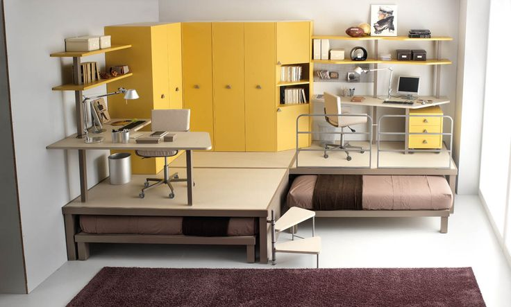 Bunk beds do not have to be boring. A small bed space for two need not be unimaginative. These twin bed designs are creative, efficient, space-saving and stylish!