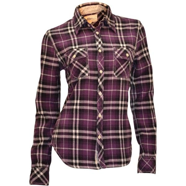 True Religion Women's Plaid Flannel Work Wear L/S Shirt-Purple ($100) ❤ liked on Polyvore featuring tops, shirts, blouses, long sleeves, plaid, tartan flannel shirt, tartan shirt, long sleeve plaid shirt, true religion and purple long sleeve shirt