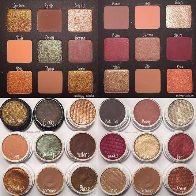I also wanted to post this picture of an overview of the Natasha Denona Star Palette vs my ColourPop dupes! #colourpopcollection #colourpopcult #colourpopcosmetics #colourpop #cosmetics #collection #beautiful #beauty #makeup #makeupaddiction #makeupaddict #makeupjunkie #love #swatches #swatchesfordays #swatchesandwhatnot #colourpopme #makeupobsessed #makeuplover #glam #makeupcollection #supershockcheek @colourpopcosmetics @colourpopcult @colourpopfun @colourpoptrend