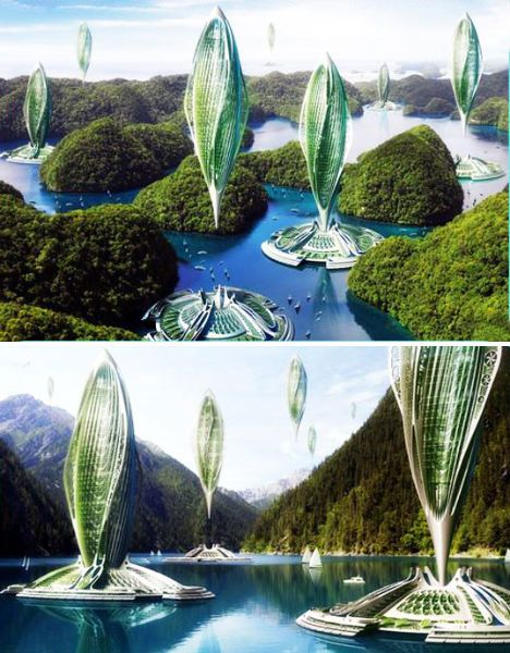 USKAO - ARXIX -  futuristic-green-architecture-algae-airships by Vincent Callebaut