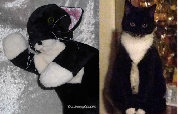 Soft toy TUXEDO CAT handmade, Memory Cat breeds from Photo, Black and White Cat plush, stuffed animal cat individual markings, Made to ORDER http://etsy.me/2d9dRP3 #custom #cat #tuxedocat #tuxedo #pets #customanimals #customcats #custompets #handmade #blackcat #blackandwhite #fromphoto  - more soft animal CUSTOM creations FROM PHOTOS http://etsy.me/2dFKkk4  - more CATS http://etsy.me/24Dy59B   Handmade with LOVE by TALLhappyCOLORS