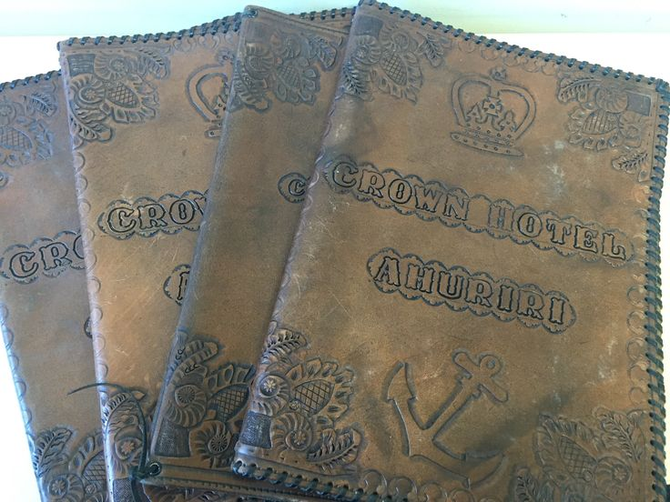 Original menu covers from the old Crown Hotel  http://www.thecrownnapier.co.nz