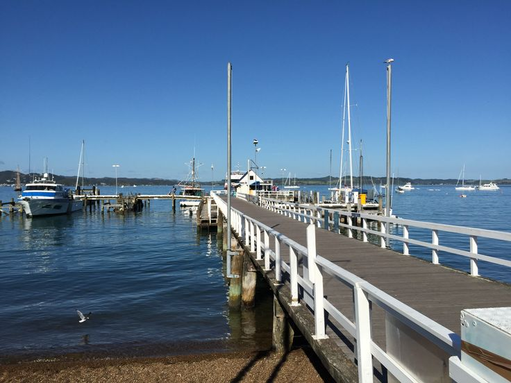 Russell wharf on a quiet day. The wharf services many most of the boat trips to the Islands and the passenger ferry to Paihia. Russell is must visit and a preferable place to stay when visiting the Bay of Islands