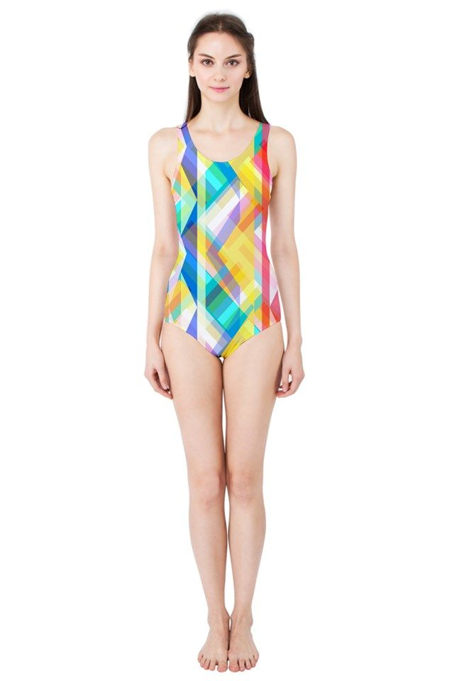 Triangle Rhytm_MirandaMol Women's One Piece Swimsuit  #pinkcess #mirandamol #fashion #cool #beachwear #swimsuit #beach #summer #pinkcess #pinkcessfashion #pnkx