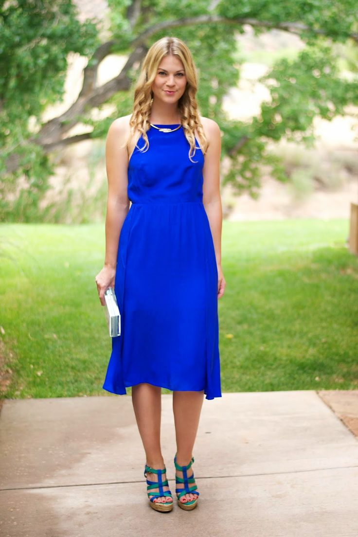 The Perfect Wedding Guest Attire Knee Length Cobalt Blue