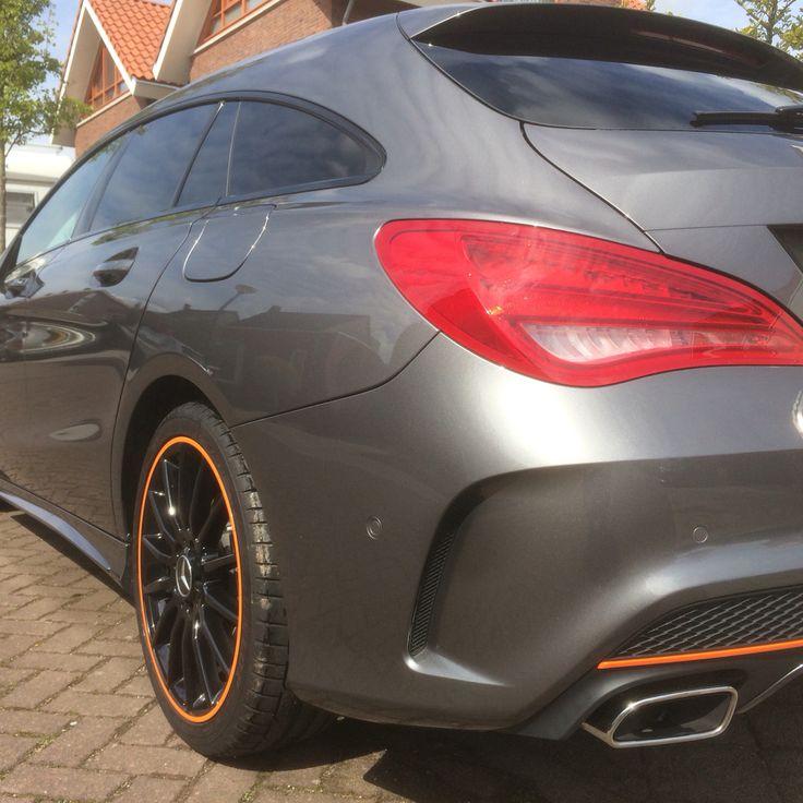 Mercedes Benz CLA Shooting Brake. Orange Edition