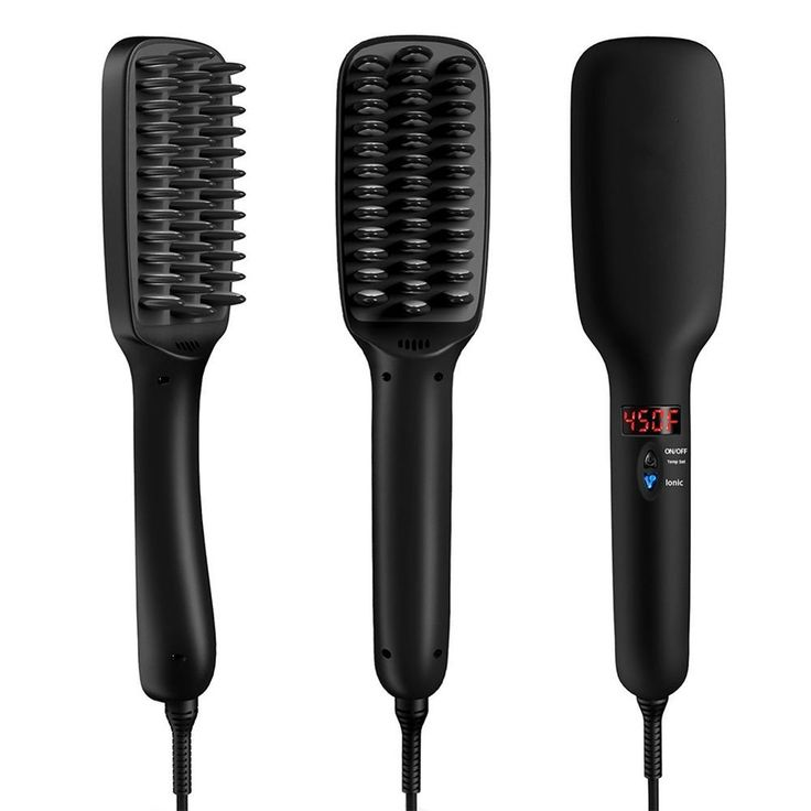 Hair Straightener,ATIVI 2-in-1 Ceramic Heating Ionic Hair Straightening Iron Brush Comb(5 Heat Settings,Auto Lock,Rotatable Power Cord,Anti-Scald) with Anti-Heat Gloves,Hair Clipsand Cleaning Brush *** More details can be found by clicking on the image. #hairsandstyles