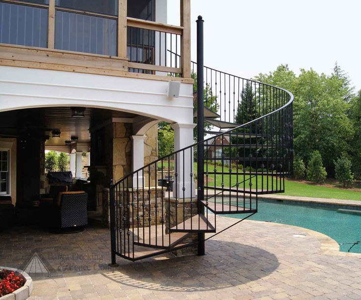 Best Outdoor Spiral Deck Stairs Pictures Of Elevated Deck 400 x 300
