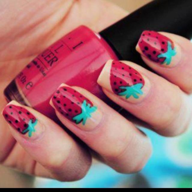 Strawberry nails....