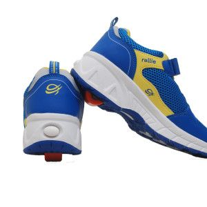 40% Off on Rollie Wave – Kids Sport Shoes Your little one will just love wearing this pair of blue and yellow colored sports shoes that is presented to you by Rollie. Featuring an appealing pattern, this pair of sports shoes will soon become his or her favorite.