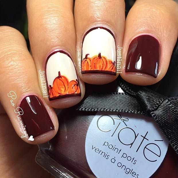 Pumpkin Nails - ideal for Fall and Thanksgiving!
