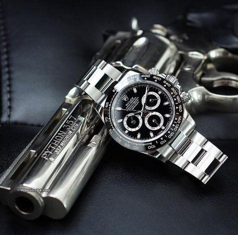 勞力士 (Rolex) [NEW] Daytona 116500LN Black Cerachrom Black Bezel Watch at HK$124,000.  We Also Have Hong Kong Rolex Boutique 888 Stock [香港行貨] For Sale at HK$128,000.