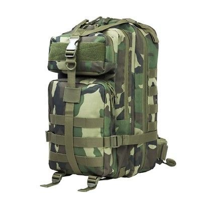 NcStar Small Heavy-Duty Backpack MOLLE Webbing Woodland Camouflage CBSWC2949