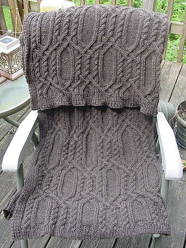 17 Best ideas about Cable Knit Blankets on Pinterest Knit blanket patterns,...