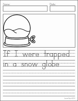 Writing Journal Prompts January. If I were trapped in a snow globe...