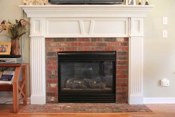52 best images about living room on pinterest fireplaces - Red brick fireplace makeover ...