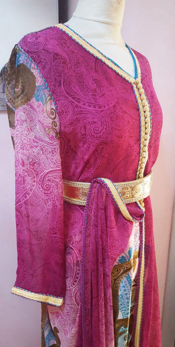 Caftan marocain moderne rose Robe de soirée par Sheherazadesign