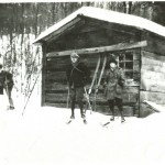 "First-Camp-Fortune-Lodge ""One ski-runner named Charles Mortureux was particularly keen. He was too old to go to the First World War but young enough to scout out trails up beyond farmers' fields and into the Gatineau Hills. Low and behold, there was room there for the ski jumping crazies to build their ski jumps. In 1920 he bought a little shack from Garrett Fortune and that became the first Camp Fortune Lodge."""