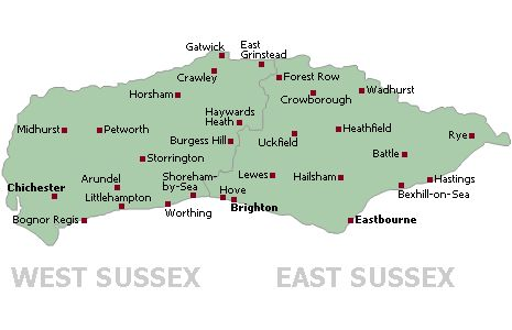 surrey west sussex border map