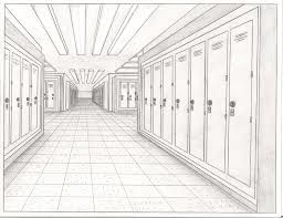 One Point Perspective Hallway Google Search Perspective One