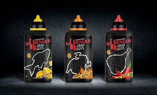 Konsep Desain Kemasan - Killhunger Mayonnaise Bottle Packaging Design by: Svoe Mnenie