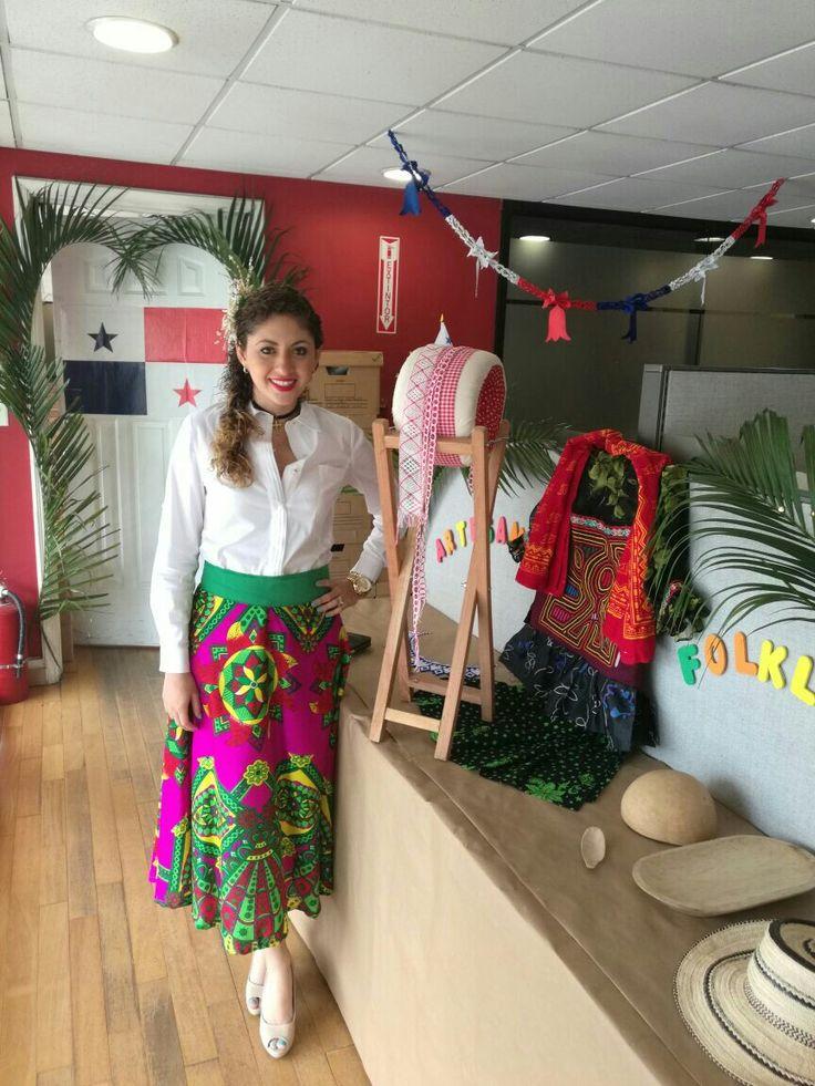 Vestido estilizado panameño  Creaciones Edy