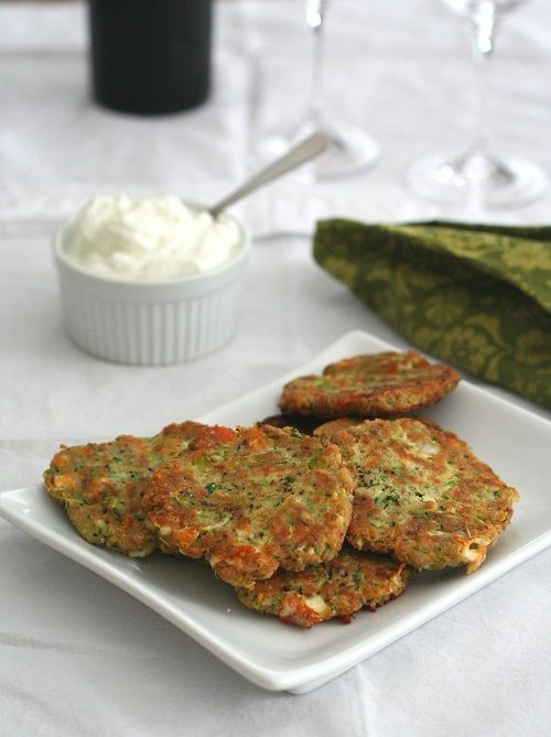 Low Carb Zucchini and Feta Fritters #keto #lchf #lowcarbs #diet #recipes