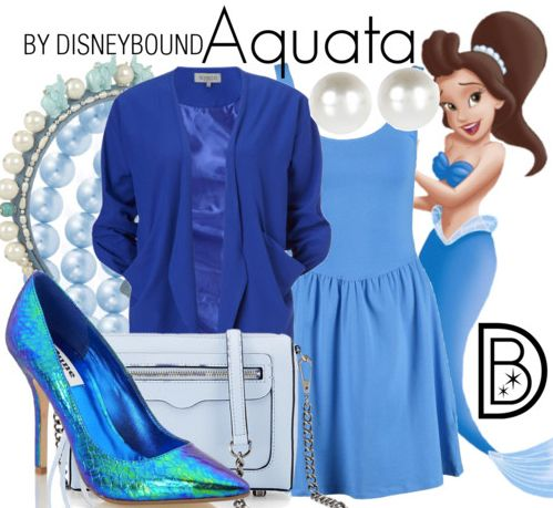 Disneybound: Aquata (my nana would love all the blue!!!!)