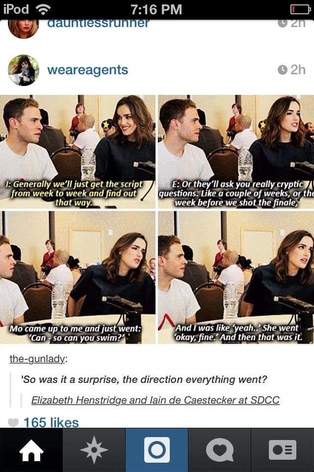 Fitzsimmons | Agents of SHIELD XD Im never going to gie a straigh answer to that again. I dont do it anyway so thats nothing new