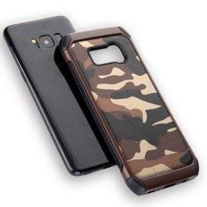 Carcasa Samsung Galaxy S8 G950, Camuflaj, Protectie Spate, Culoare Maro