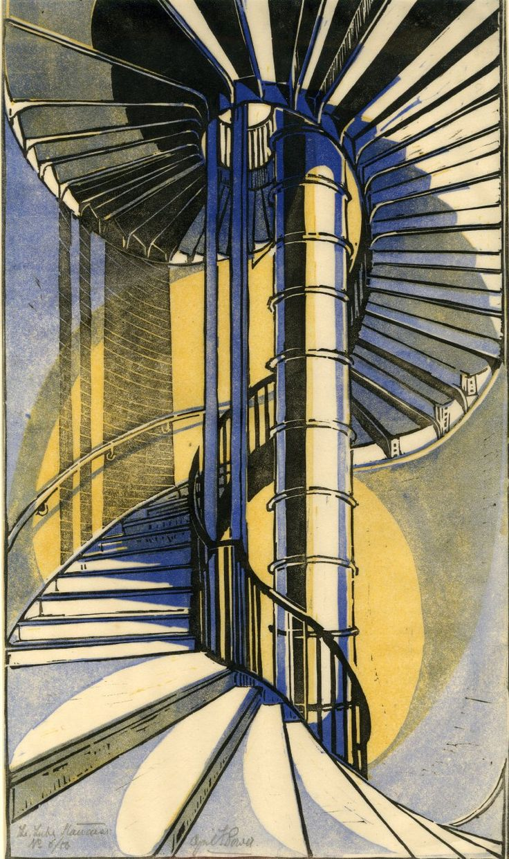 The tube staircase | Cyril Power, ca 1929 | Prints and ...