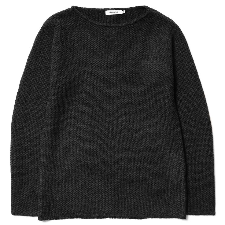 Nonnative // Contractor Sweater Wool Yam Waffle Black