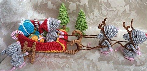 Topolini di Natale! Slitta di Babbo Natale - Christmas Mice. Santa's Sleigh
