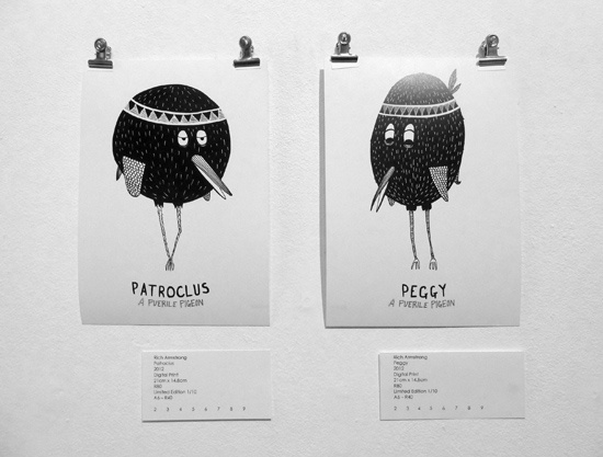 Rich Armstrong.								Patroclus & Peggy.  From the Puerile Pigeon Series  Drawn In (28 May 2012 - 9 June 2012)