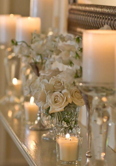 Beautiful candle setting.