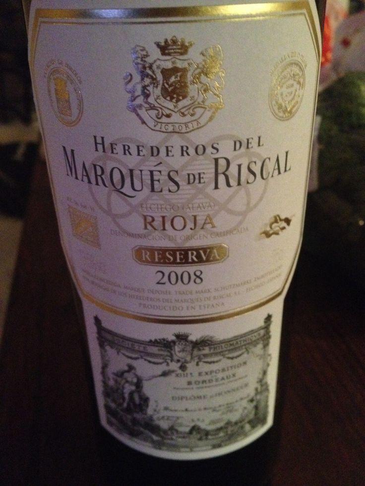 Marques de riscal rioja 2008. Mineral balanced