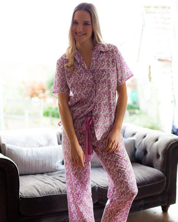 Pearl Short Sleeve Floral Print Pyjamas