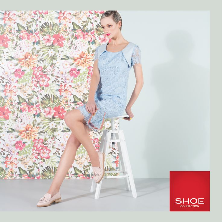 Shoe Connection Spring/Summer 14/15 Campaign. Dress - Loafers - Floral. Shop: http://www.shoeconnection.co.nz/