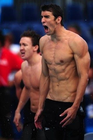 Michael Phelps - Swimming - his body is a master piece!